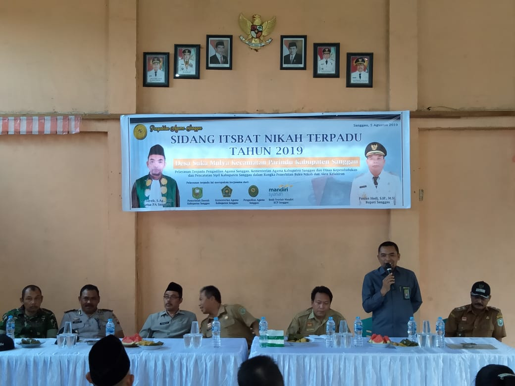 PA Sanggau Gelar Sidang Itsbat Terpadu Perdana di kabupaten Sanggau