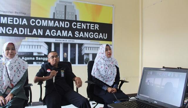 Video Conference Meeting dengan KPPN Sanggau