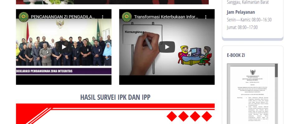 PA Sanggau Buat Portal Khusus Zona Integritas Menuju WBK dan WBBM