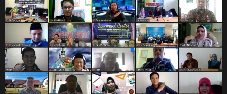 PTA Pontianak Gelar Virtual Meeting di ikuti Sekretaris dan Kasubbag Perencanaan se-Kalimantan Barat