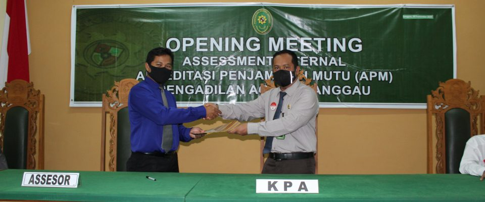 Opening Meeting Assesment Internal APM PA Sanggau