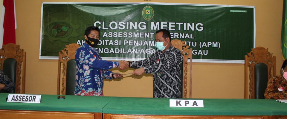 Clossing Meeting Assesment Internal APM PA Sanggau