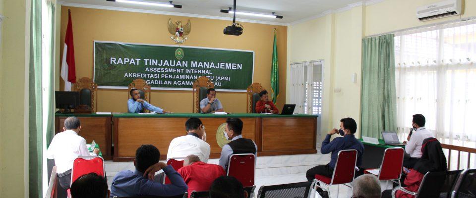 Sikapi Hasil Assessor Internal, PA Sanggau Gelar Rapat Tinjauan Manajemen