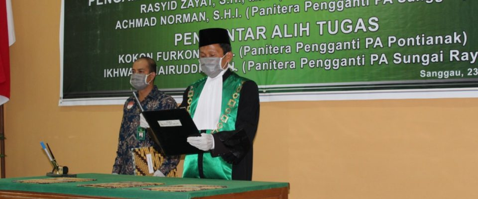 Wakil Ketua PA Sanggau Lantik Panitera dan Panitera Pengganti