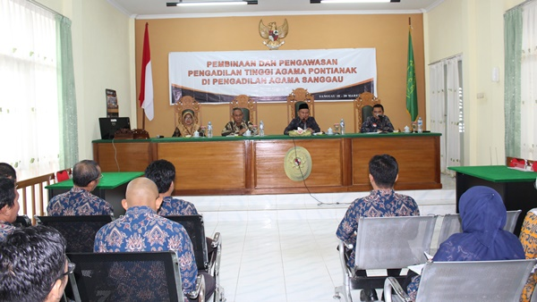 Hasil Pembinaan dan Pengawasan HATIBINWASDA PTA Pontianak di Sanggau
