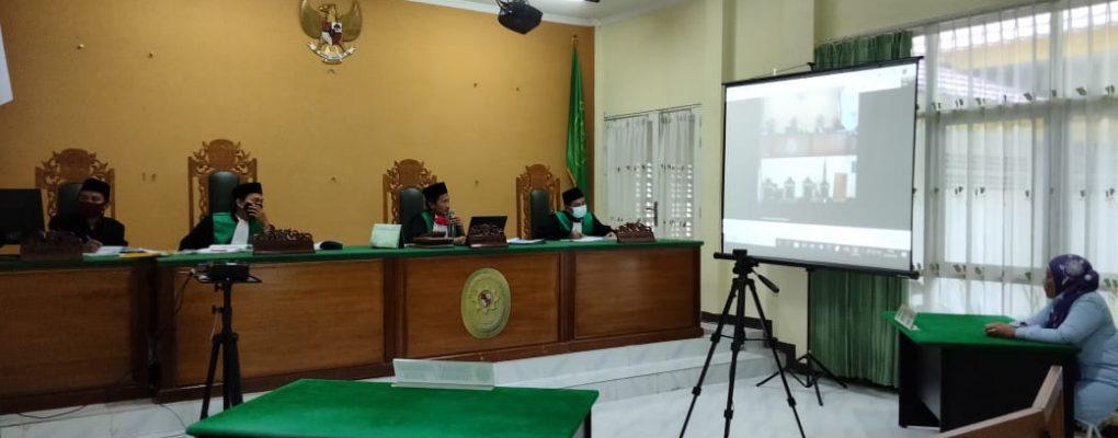PA Sanggau Periksa Saksi Via Teleconference